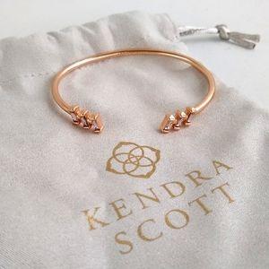 NWOT Kendra Scott Rose Gold Amaya Bangle Bracelet